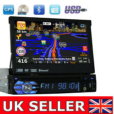 UK Touch Screen Single 1 Din In Dash Car DVD Player GPS Stereo Bluetooth RDS USB
