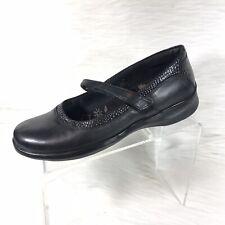 Aetrex Julia Women's Mary Jane Flats Shoe Black Leather Size 10.5 D