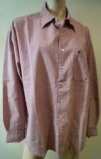KENZO JEANS Menswear Red & Cream Cotton Checked Branded Casual Shirt L