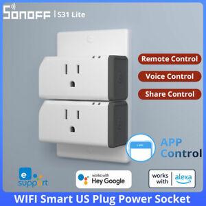 SONOFF S31 Lite Wifi Smart Plug Wireless Power Socket 15A Switch Remote Control