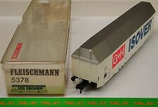 Wagon FLEISCHMANN HO - Couvert Grande Capacité G+ H ISOVER - Ref 5378 TBE