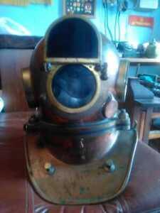 Vintage Maritime Russian 3 Bolt Deep Sea Diving Helmet Original wh welding mask