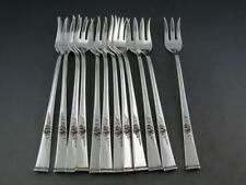 12 Sterling REED & BARTON Cocktail / Seafood Forks CLASSIC ROSE