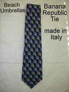 Sharp BANANA REPUBLIC TIE Made in Italy Cool Beach Umbrellas Print