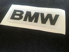 1 Adesivo Resinato Sticker 3D Bmw su fondo Bianco scritta nera