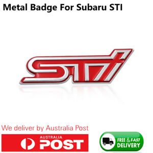 Metal Subaru STI Badge Red Subaru Tecnica International BRZ WRX Forester AUS
