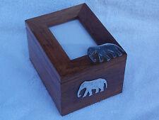 Fair Trade Handmade Wooden Elephant Photo Box