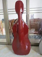Great 4/4 darkPurple fiberglass cello hard case w/wheells