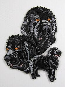 Newfoundland dog heat seal embroidered badge