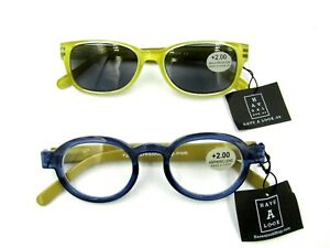2 Pairs of +2.00 Have A Look Women's Readers Reading Glasses / Sun. NEW with Tag