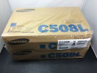 Lot of 2 Genuine New Samsung CLT-C508L CYAN Toner Cartridge C508L Sealed Package