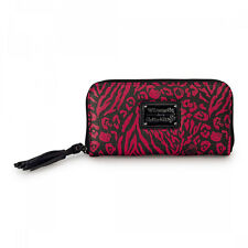 Loungefly Hello Kitty Red Pink Black Embossed Zip Wallet