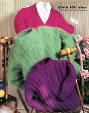 Classic Elite Yarns Knitting Pattern #685 Concord Croquet, Pullovers, Cardigan