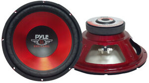 """Pyle Red Label Series 10"""" Woofer 600 Watts Max Plw10Rd"""