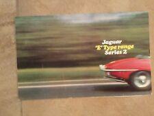 Jaguar E type range series 2 brochure in very good condition