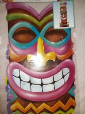 Lot of 3 decoration items - 2  tiki jointed wall decor - 1 (4pc) paper placemats