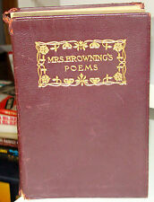 Mrs. Browning's Poems, Elizabeth Barrett Browning, Thomas Y. Crowel, 1887 ? PB