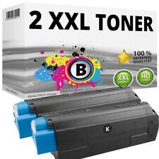 2x XXL toner negro para oki data c3100 c3200 n c5100 n c5200 n c5300 DN c5300 n