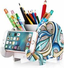 COOLBROS Elephant Pencil Holder with Phone Holder Desk Organizer Desktop Pen