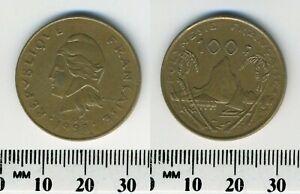 French Polynesia 1998- 100 Francs Nickel-Bronze Coin - Moorea Harbor