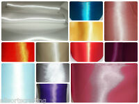 """4"""" 100mm wide DOUBLE FACED SIDED SATIN SASH RIBBON Choice of colour & length"""