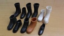 Vintage Action Man 60s / 70 s / 80s spare boots football shoes white tan black