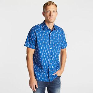 Nautica Mens Classic Fit Short Sleeve Shirt In Sailboat Print