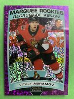 2019-20 OPC Platinum Marquee Rookie Violet Pixels #189 Vitaly Abramov 278/399 RC