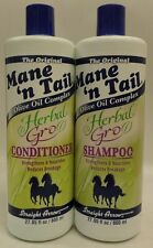 Mane n Tail Herbal Gro Shampoo and Conditioner Olive Oil Complex 12 oz New