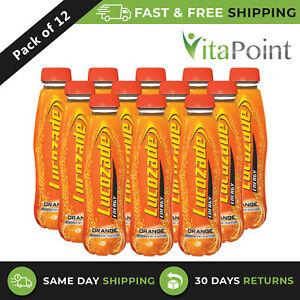 Lucozade Energy Drink Orange 380 ml / Pack Of 12