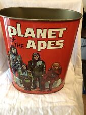 1967 Planet Of The Apes Metal Trash Can *Ex. Condition*