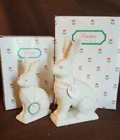 Dept 56 Snowbunnies 1992 Mama Bunny & 1992 Baby Bunny - 2 Piece In Boxes