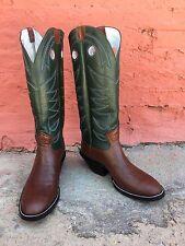 Jose Sanchez Boots, 11D Men's Brown Mulehide Buckaroo Working Cowboy Boots