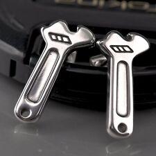 silver earrings spanner 316L stainless steel stud fashion attitude jewellery