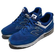 New Balance 574 Blue Grey White Suede Men Running Casual Shoes Sneaker MS574CD D