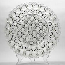 English Antique Pressed Glass Bowl Button Cane Pattern RD153858 Victorian Era