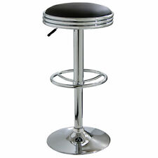 AmeriHome BS1208 Retro Soda Shop Bar Stool - Black