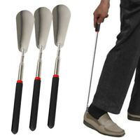 1X Metal Adjustable Shoehorn Stainless Steel Shoe Horn Long Handled Professional