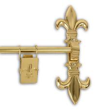 "Solid Brass Fleur-de-lis Rug Quilt Tapestry Hanger 72"" NEW"