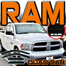 09-17 Ram 1500 Quad Cab Side Window Visor Sun Deflectors Rain Guards Vent Shades