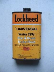 Lockheed Universal Series 329s Brake Fluid Tin   500ml.  1pt.