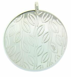 Enigma By Bulgari large round pendant in sterling silver