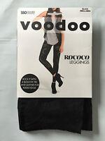 BNIP Voodoo Brand Black Small Med 180 Denier Mesh Effect Footless Leggings RRP30
