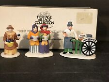 "(1) Department 56 Heritage Village #5580-8 ""Violet Vendor/Carolers/Chestnut& #034; Cic"