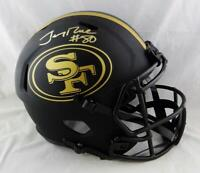 Jerry Rice Signed San Francisco 49ers F/S Eclipse Speed Helmet- Beckett W Auth