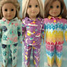 "18"" Doll Pajamas fits 18 inch American Girl Doll Clothes 408acd"