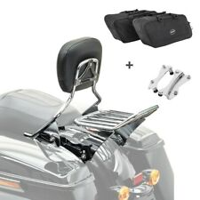 Sissybar set + bolsillos interiores separados ofrecen w1 para Harley Road Glide Custom 10-13 Crom.