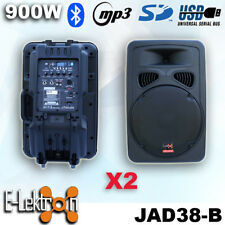 2 X 15 inch 900W Active Speaker Loud Digital Sound System PA SD/USB Bluetooth