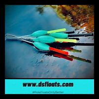 Ds Pole Floats Far Shelf mud-liners handmade commercial carp /& f1 floats
