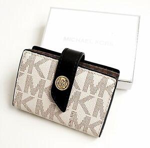 Michael Kors Portemonnaie Geldbörse MK Charm SM Tab Card Case Brown Multi neu